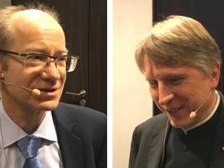 Prof. Dr. Franz Xaver Bischof, LMU-München (li.), Bistomshistoriker Domkapitular Dr. Thomas Groll, Augsburg