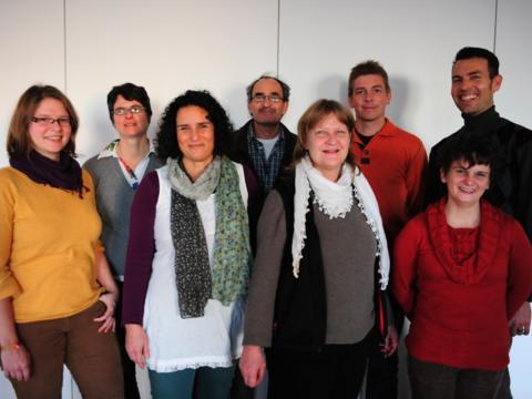 Von links: Karina Lober, Gudrun Schraml, Birgit Schüssler, Klaus Winterholler, Isolde Rader, Norbert Ritter, Silvia Drescher, Stefan Schneid