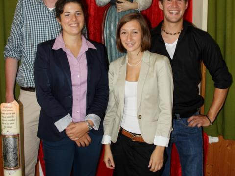 Projektgruppe Radegundis: Florian Haas, Daniela Wilden, Ines Kühnert, Alexander Pfab (v.l.)