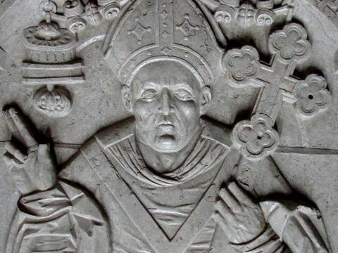 Absalons Grabplatte in der Klosterkirche von Sorø. Foto: Orf3us (CC BY-SA 3.0)