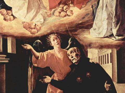 Francisco de Zurbarán, Die Vision des Alonso Rodríguez, 1630, Real Academia de Bellas Artes de San Fernando, Madrid