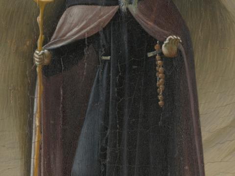 Meister der Osservanza, Die Versuchung des hl. Antonius (Ausschnitt), um 1435, Yale University Art Gallery, New Haven