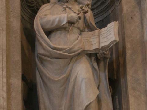 Skulptur von Cesare Aureli im Petersdom, 1909