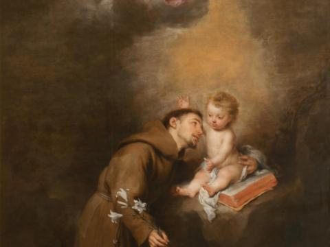 Bartolomé Esteban Murillo, Antonius mit dem Kind, um 1665, Museo de Bellas Artes de Sevilla