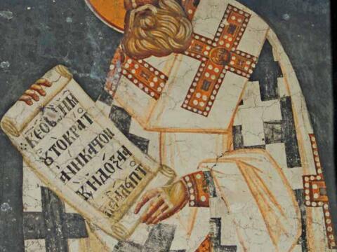 Fresko in der Kirche Theotokos Peribleptos, Ohrid, Mazedonien, 13. Jahrhundert
