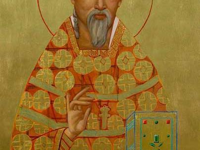 Ikone des heiligen Augustinus Zhao Rong. Das Foto stellte der Künstler Ken Woo freundlicherweise zur Verfügung (www.kenwooart.com)
