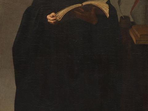 Bartolomé Román, Unser Vater, der ehrwürdige Beda, vor 1647, Museo del Prado, Madrid