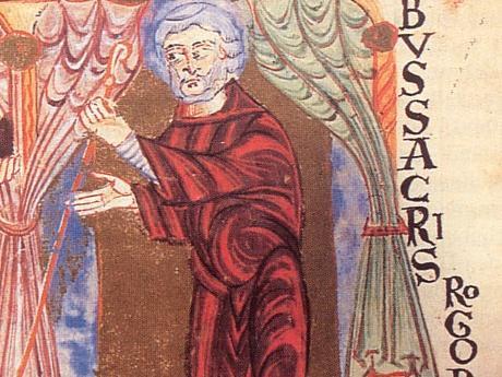 Wunibald auf dem Pontifikale Gundekarianum, 11. Jahrhundert