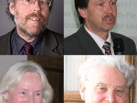 Die Referenten der Tagung (v. l.): Prof. Dr. Reinhold Zwick (Münster), Prof. Dr. Andreas Broocks (Schwerin), Prof. Dr. Annemarie Pieper (Basel), Prof. Dr. Joachim Ringleben (Göttingen).