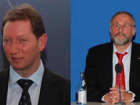 Prof. Dr. Carsten Wippermann und Thomas Becker stellten sich nach den Vorträgen den Fragen der Teilnehmer.