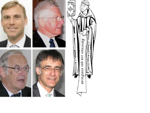 Die Referenten (v. li. oben im Uhrzeigersinn): Prof. Dr. Martin Thurner, Prof. dr. Manfred Weitlauff, Prof. Dr. Gerd Häfner, Prof. Dr. Peter Neuner.