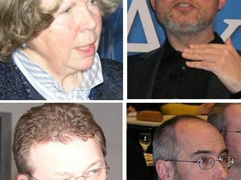 Die Referenten der Tagung: Prof. DDr. Hanna-Barbara Gerl-Falkovitz, Prof. Dr. Stefan Schreiber, Pfarrer Mag. Michael Scharf, Bernhard Meuser.