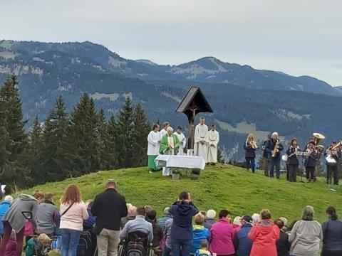 Bergmesse der Pfarreiengemeinschaft Leipheim-Großkötz auf dem Söllereck am 22. September 2019