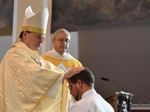 Diakonenweihe von fr. Marcus Grabisch SAC (Foto: Julian Schmidt / pba)