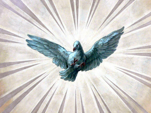 Die Taube ist ein altes Symbol für den Heiligen Geist (Fresko in der Karlskirche in Wien / Foto: Wikimedia Commons)