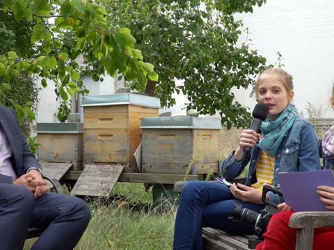 Interview_Kinderreporter fragen den Klimaschutzmanager_banner