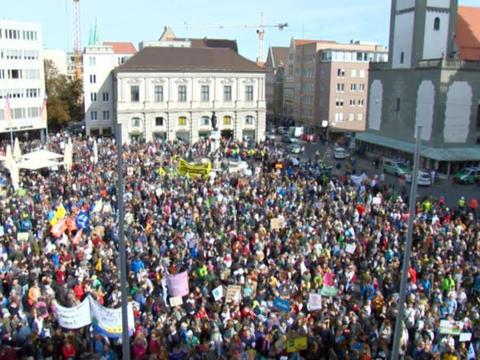 Klimademo in Augsburg