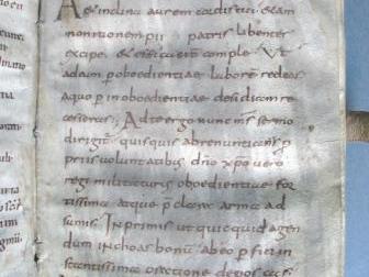 Regula S. Benedicti, Benediktbeuern, erstes Drittel 9. Jh., Pergament, 21,6 x 14,2 cm