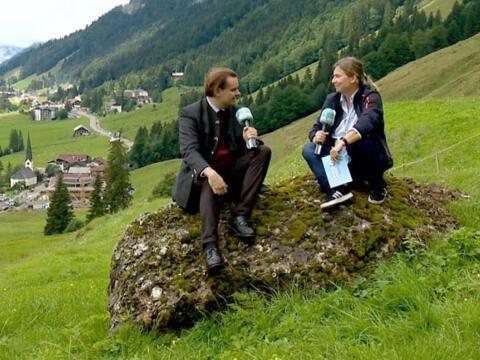 Sommerplauderein mit Diakon Martin und den Balderschwanger Alphornbläsern