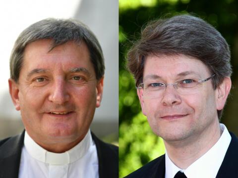Domkapitular Walter Schmiedel (links) und Regens Dr. Michael Kreuzer (Fotos: pba)