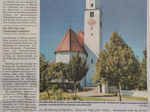 Zeitungsausschnitt DZ vom 14.09.2020 Beginn Statische Instandsetzung Kopie