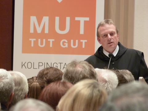 Abt Theodor Hausmann beim Empfang zum Kolping-Gedenktag. ( Foto: Kolping)