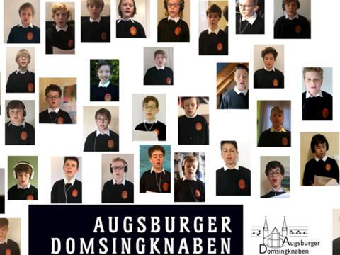 "Karl-Kraft-Chor im ""Homeoffice"". (Quelle: YouTube-Kanal der Augsburger Domsingknaben)"