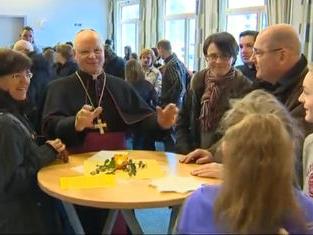 """Bischof Konrad begegnet in der Pfarrei """"Christus unser Friede"""" seinem bischöflichen Wahlspruch"""
