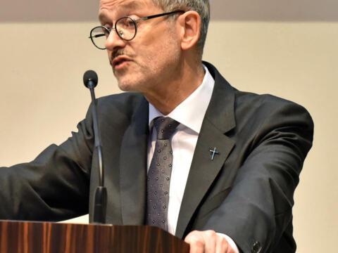 Prälat Dr. Peter Neher, Präsident des Deutschen Caritasverbandes. (Foto: Nicolas Schnall / pba)