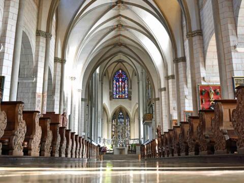 Die Gemeinschaftsfeier zum Abschluss der Woche der Brüderlichkeit findet heuer im Augsburger Dom statt. (Foto: Nicolas Schnall / pba)
