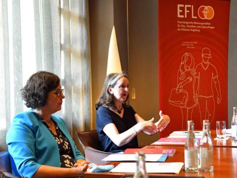 Tätigkeitsbericht 2019 vorgestellt: Helga Kramer-Niederhauser präsentiert Zahlen und Fakten aus dem Berateralltag. (Foto: Nicolas Schnall / pba)