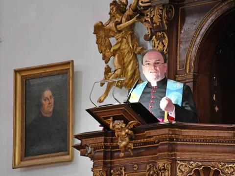 Mit Leidenschaft für die Einheit der Christen: Prälat Dr. Bertram Meier beim ökumenischen Gottesdienst zur weltweiten Gebetswoche. (Foto: Nicolas Schnall / pba)
