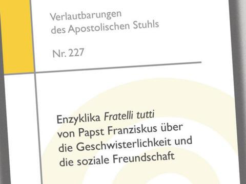 """Enzyklika """"Fratelli tutti"""" erschienen"""