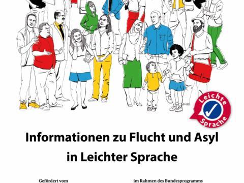 Infobroschüre über Flüchtlinge in Leichter Sprache