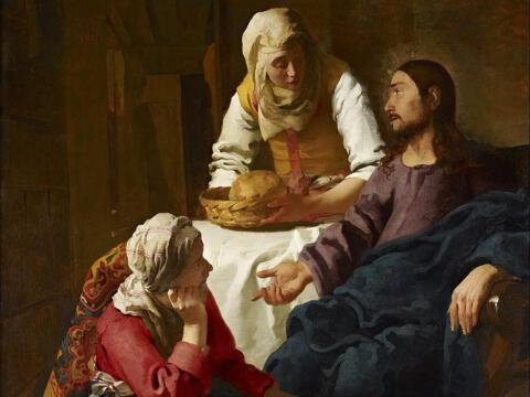 Christus bei Maria und Marta (Jan Vermeer in Wikimedia.Commons)