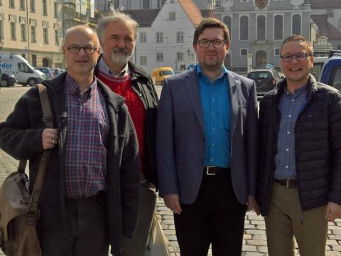 Neuer Vorstand des vka: (v.l.) Christoph R. Gollinger, Josef Miltschitzky, Maximilian Pöllner und Michael Dolp. (Foto: Ansgar Kirchgäßner)
