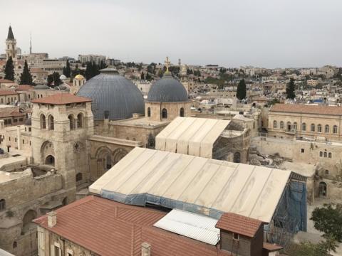 Jerusalem mit Blick auf die Grabeskirche. (Foto: Karl-Georg Michel / pba)