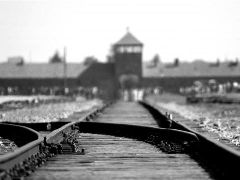 Eisenbahnschienen, die zum Vernichtungslager Auschwitz-Birkenau führen. (Foto: pixabay.com)