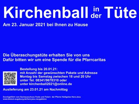 """Kirchenball in der Tüte"" zugunsten der Pfarrcaritas"