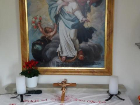 Einweihung der neuen Kapelle auf dem Holmer- Hof