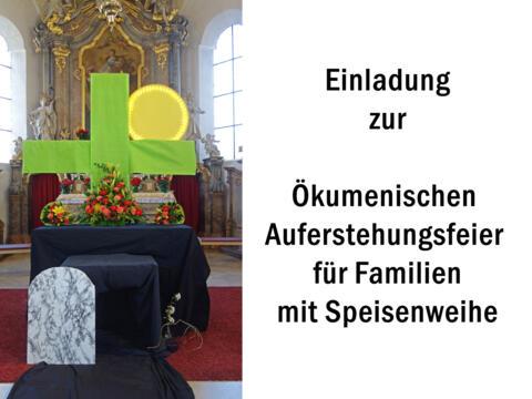 Einladung zur ökumenischen Auferstehungsfeier für Familien am 3. April 18 Uhr