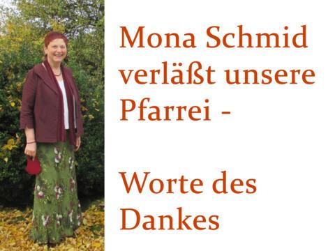Liebe Mona Schmid, DANKE für 11 Jahre