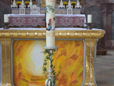 Osterkerze St. Michael Krumbach