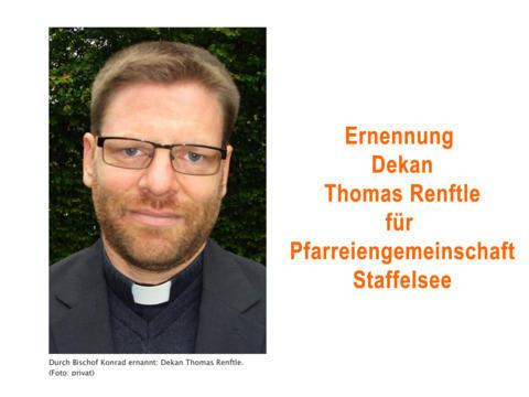 Wiederbesetzung der Pfarreiengemeinschaft Staffelsee