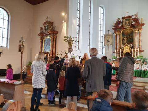 Familiengottesdienst in St. Johannes Baptist, Althegnenberg
