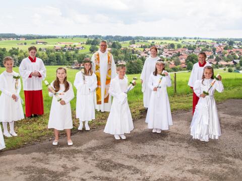Erstkommunion 2020 in St. Agatha, Uffing