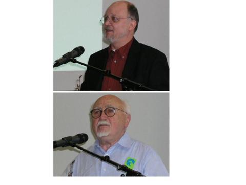 Prof. Dr. Winfried Gebhardt (Allg. Soziologie an der Universität Koblenz-Landau) und Prof. Dr. Josef Franz Thiel (ehm. Direktor, Museum der Weltkulturen, Frankfurt a. M.).