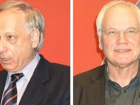 Die Referenten: Prof. Hans-Peter Balmer (li.) und Dr. Wunibald Müller