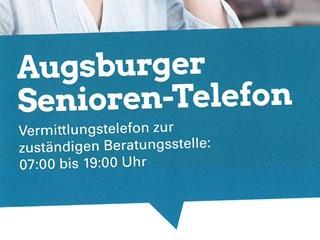 Hinweis zum Augsburger Senioren-Telefon der Stadt Augsburg