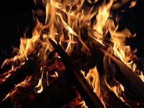 Nacht des Feuers bei Sonthofen